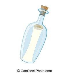 boodschap, fles