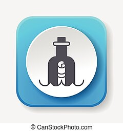 boodschap, fles, pictogram