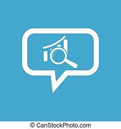 boodschap, grafisch, examen, pictogram