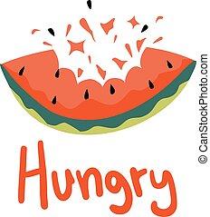 boodschap, hongerige