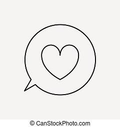 boodschap, liefde, pictogram