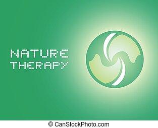 boodschap, therapie, natuur