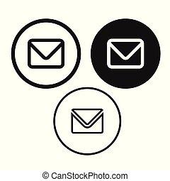 boodschap, vector, email, pictogram