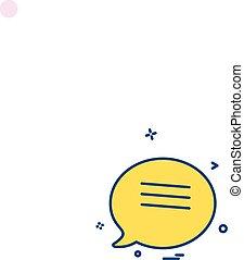 boodschap, vector, ontwerp, pictogram