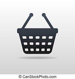 boodschappenwagentje, pictogram