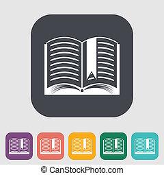 book., único, apartamento, icon.