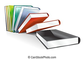 Book 3d illustration isolated on white