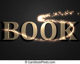 BOOK- 3d inscription with luminous line