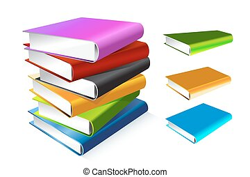 Book 3d vector illustration isolated on white. Back to...