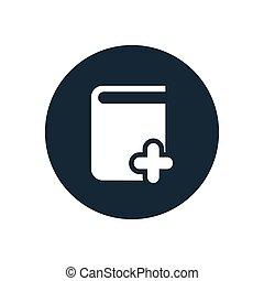 book add icon, round shape