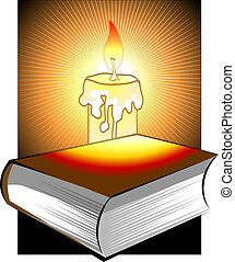 Book and candlelight - Illustration of book and candlelight...