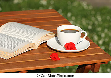 Book and coffee relax