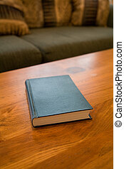 book and coffee table
