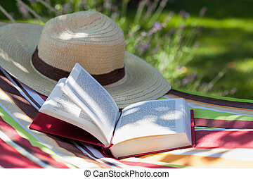 Book and hat