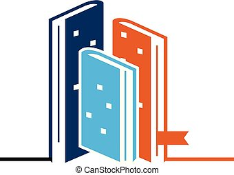 Book and Hotel Vector