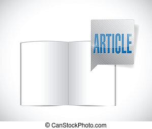 book article message illustration design