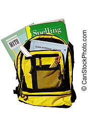 school supplies - book bag full of school supplies (all...