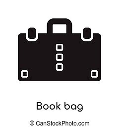 Book bag icon isolated on white background
