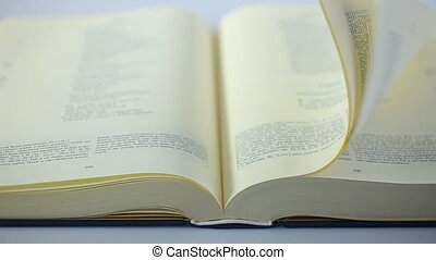 Book Bible scrolling