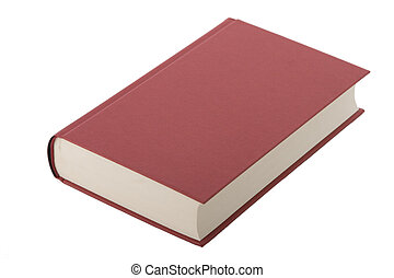 book, blank cover - Brand new red hardcover book with blank...