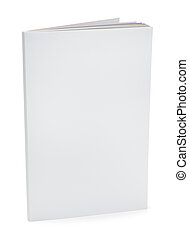 White Magazine with Copy Space Upright Isolated on White Background.