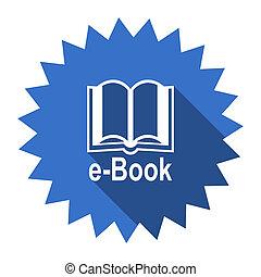book blue flat icon