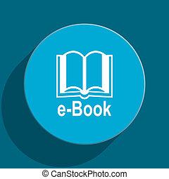 book blue flat web icon