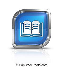 Book Blue Icon Sign Web