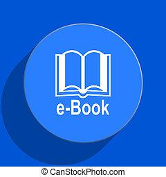 book blue web flat icon