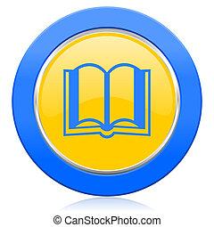 book blue yellow icon