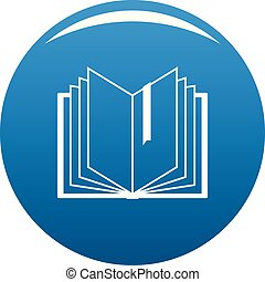 Book bookmark icon blue vector