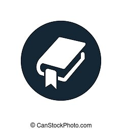 book bookmark icon, round shape