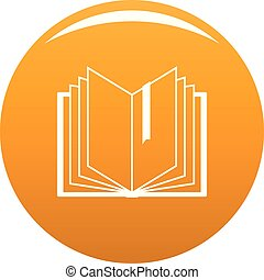 Book bookmark icon vector orange