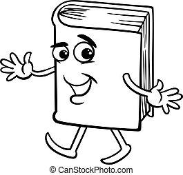 book cartoon coloring page