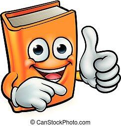 Book Cartoon Education Mascot