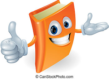 Book character illustration - Book cartoon character mascot...