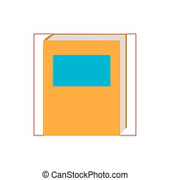 book closed flat style icon
