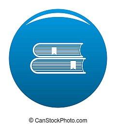 Book college icon blue