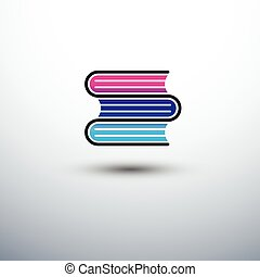 Book - colorful book icon, vector illustration