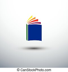 Book - colorful book icon, vector illustration