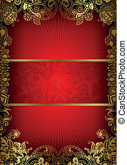 Book Cover Design - Illustration of abstract red background...