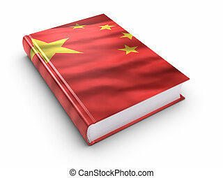 Book covered with Chinese flag