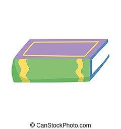 book day, hardback book literature isolated icon - book day...