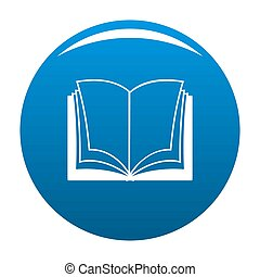 Book dictionary icon blue