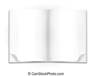 book - open book with blank pages as template