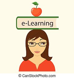 book e-learning on the head