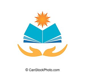 Book education logo vector template
