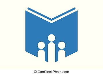 book education school logo vector