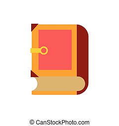 book fairytale object isolated icon vector illustration ...