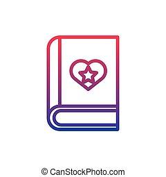 book fantasy line gradient icon